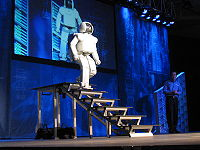 Honda ASIMO Walking Stairs | image from wikipedia