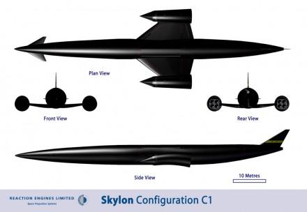 Skylon Tampak depan dan samping