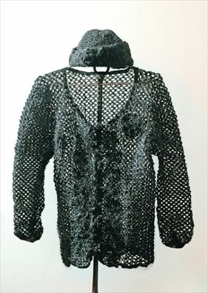 Sweater dan topi rajutan Xiang