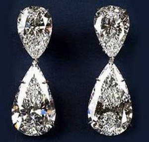 Diamond Drop Earrings by House Of Harry Winston