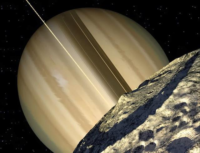 Kawah Herschel di Mimas
