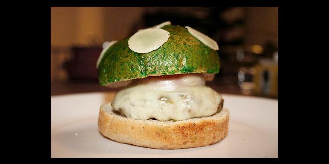 Burger Jamur Mario Bross
