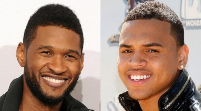 Usher Ajak Chris Brown Garap Album Barunya