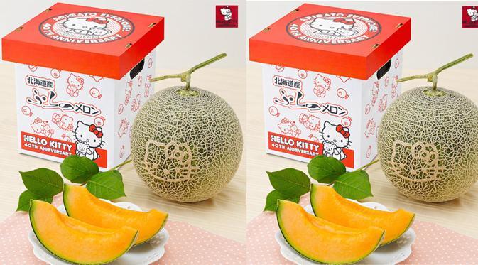 Furano Melon, Melon Unik Motif Hello Kitty