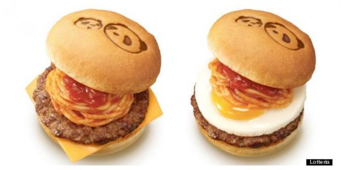 Lezatnya Napoli Panda Burger, Burger Isi Spaghetti