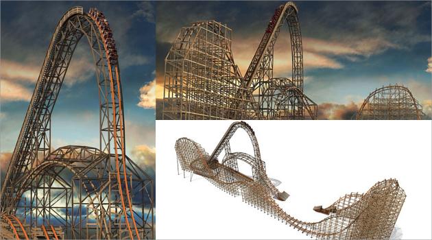 Mengunjungi Roller Coaster Kayu Pemecah Tiga Rekor