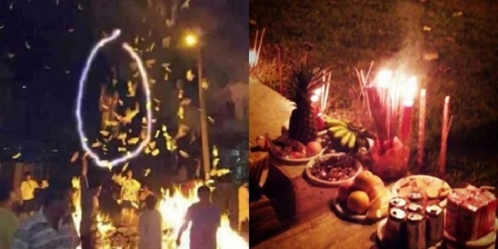 Seram, Ada Penampakan Saat Upacara Ritual di Singapura
