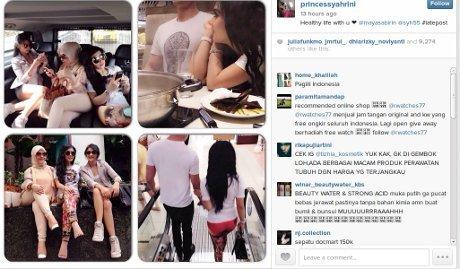 Syahrini unggah foto di instagram