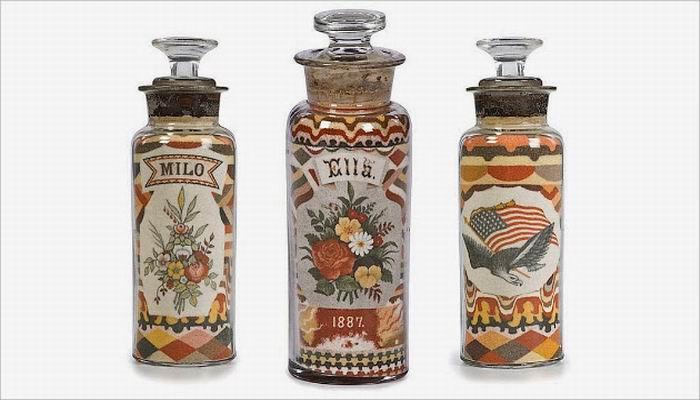 Uniknya Karya Seni Pasir di Dalam Botol