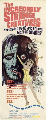 Poster film The Incredibly Strange Creatures Who Stopped Living and Became Mixed-Up Zombies