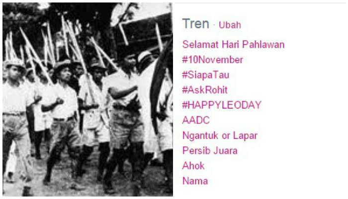Peringati Hari Pahlawan, Tag #10November Banjiri Linimasa Twitter
