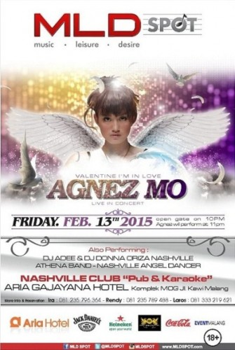 Poster AGNEZ MO Live in Concert