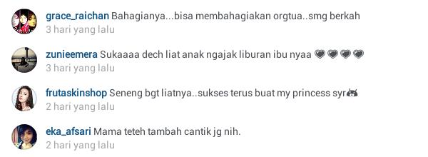 komentar follower @princessyahrini