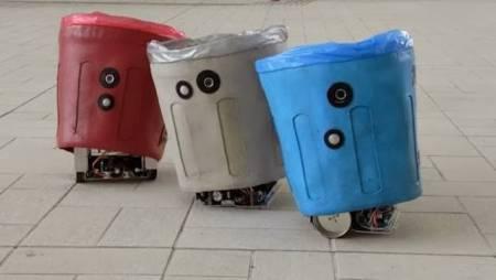 Siswa SMP di Jember Berhasil Ciptakan Tempat Sampah Robot