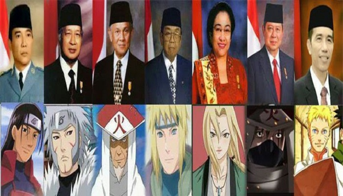 Persamaan Para Hokage 'Naruto' dengan Presiden RI 1-7