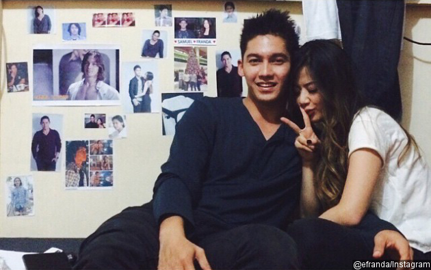 Samuel dan Franda pose romantis (instagram)