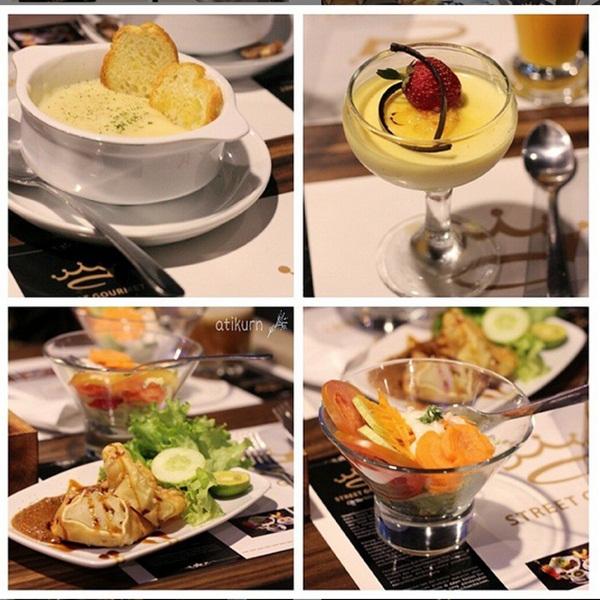 Beberapa menu hidangan di Street Gourmet Bandung (instagram.com)