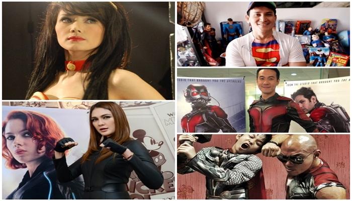 5 Seleb Indonesia yang Berkostum Superhero