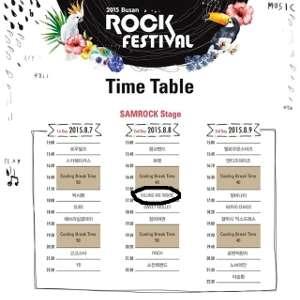 Rundown acara Busan Rock Festival