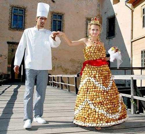 Gaun Pengantin dari buah (top10magz)