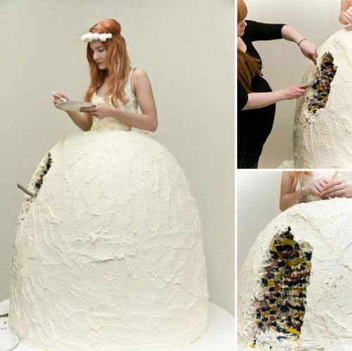 Gaun pengantin dari kue (top10magz)