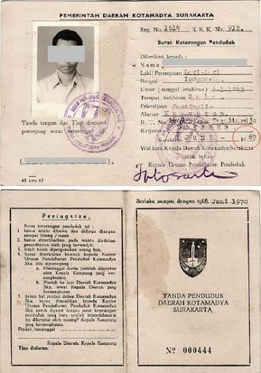 KTP tahun 1970an (Brilio)