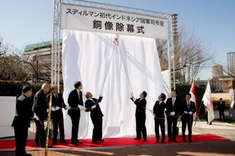 Peresmian patung Jenderal Sudirman di Jepang (Kaskus)