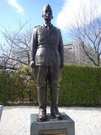 Patung Jenderal Sudirman di Jepang (Kaskus)