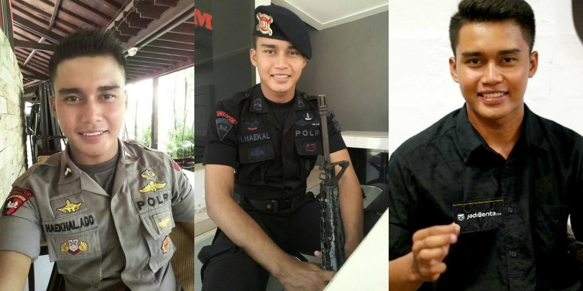 Berkenalan dengan Handy Aziz Haekhal, Brimob Ganteng yang Jago Sulap