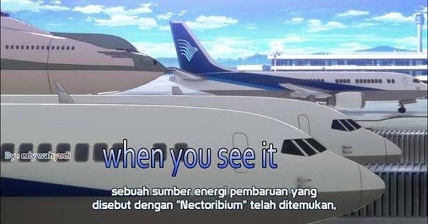 Garuda Indonesia di anime Buddy Complex (Kaskus)