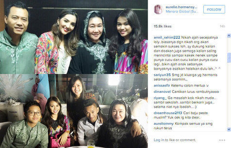 Pertemuan keluarga Aurel dan Radhan (Instagram)