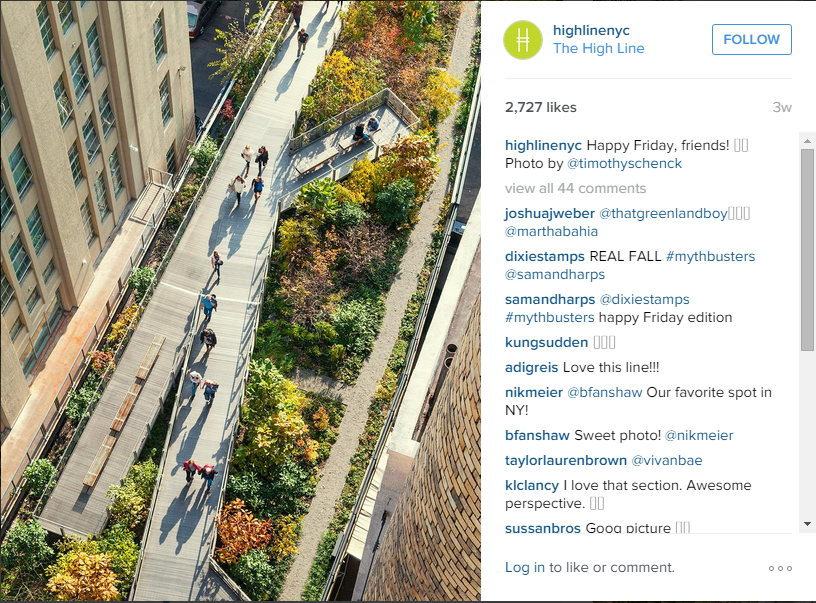 Keren banget nih The High Line! (instagram.com)