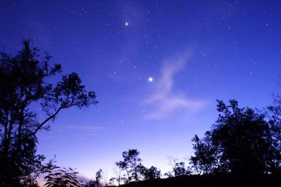 Venus dan jupiter tampak dari Bumi (Getty Images)
