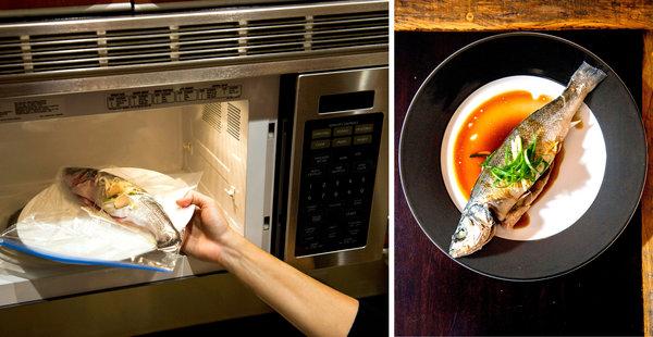 Memasak ikan dengan microwave (www.nytimes.com)