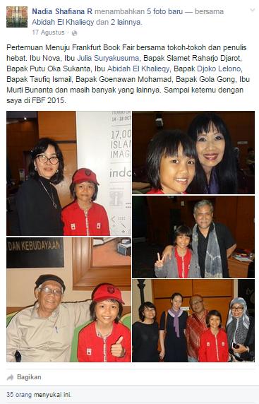 Nadia ketika akan berangkat ke Jerman (facebook.com)