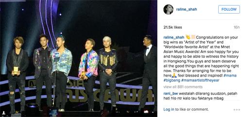 Raline Bigbang MAMA (instagram.comraline_shah)