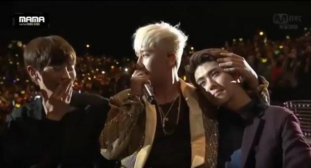 Seungri Bigbang dan Sehun EXO (www.wowkeren.com)