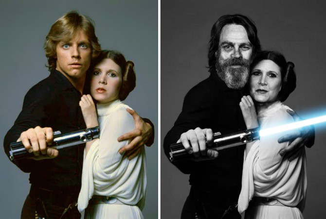 Mark Hamill dan Carrie Fisher (Boredpanda)