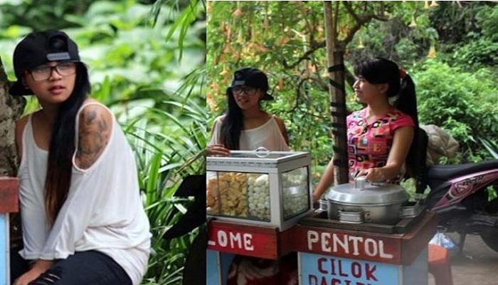 Gadis Cantik Penjual Cilok Bergaya RnB Jadi Berita