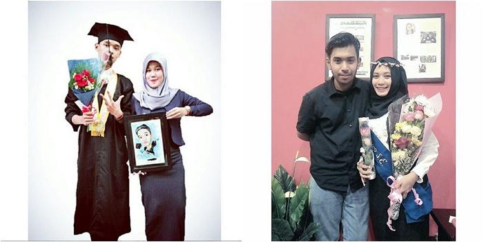 Foto ditemani pasangan saat selesai sidang akhir ataupun wisuda. Duh, yang nggak punya pasangan jangan iri ya (instagram.com)