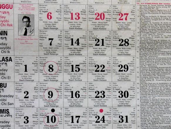 Kalender Saka Bali (Bad-bad)