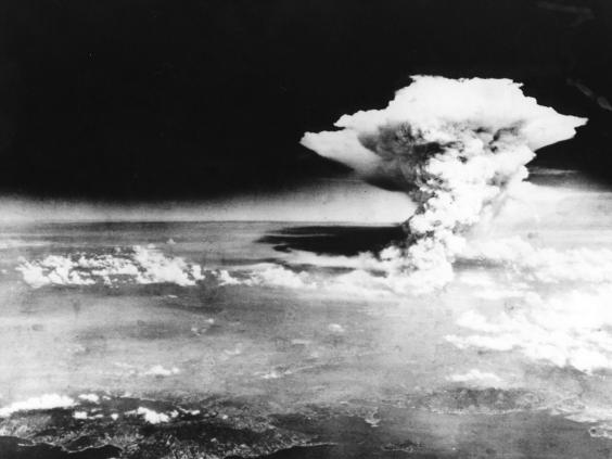 Bom dijatuhkan di Hiroshima (Independent)