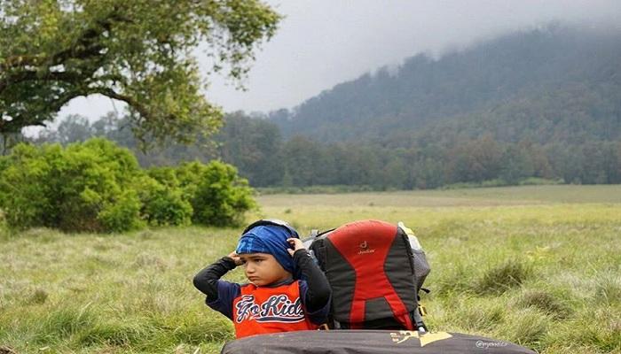 Balita 3 Tahun Sudah Daki 15 Gunung Indonesia