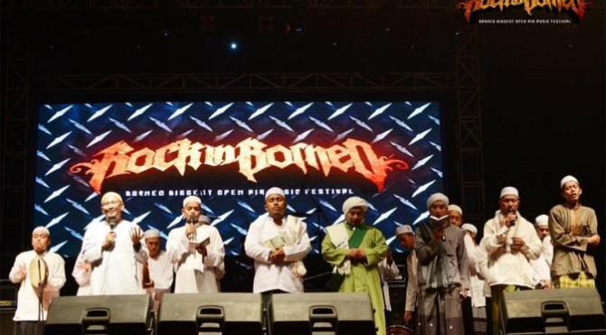 Tausiyah di Rock in Borneo (Facebook)
