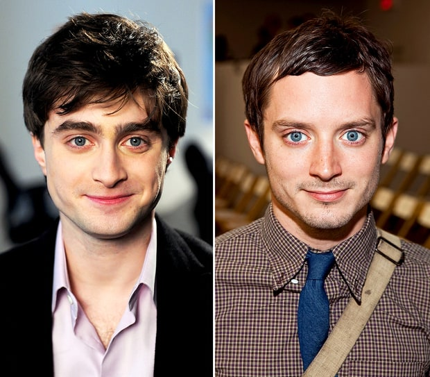 Daniel Radcliffe (kiri) dan Elijah Wood (Usmagazine)