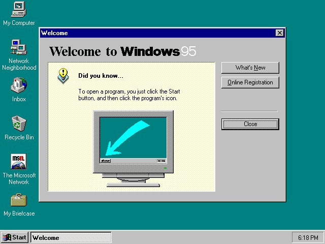 Tampilan Windows 95 (Wikipedia)