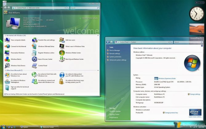Tampilan Windows Vista (Isodownload)