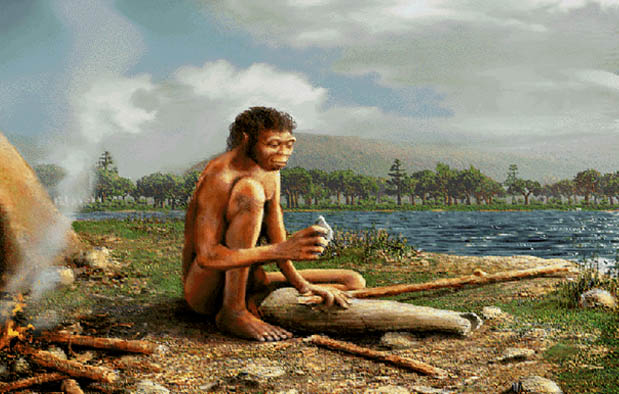 Ilustrasi manusia purba (Kisah Asal Usul)