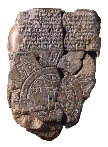 Peta dunia tablet buatan bangsa Babilonia (Wikipedia)