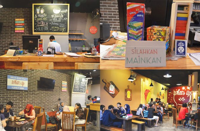 Suasana di Whats Up Cafe (theanandic.blogspot.co.id)
